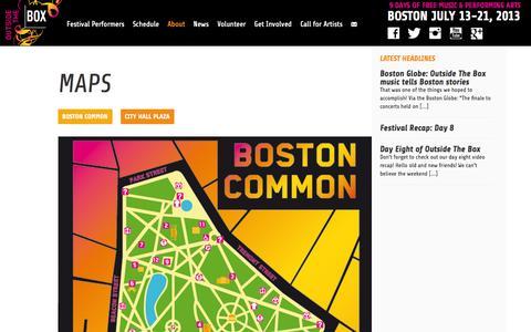 Screenshot of Maps & Directions Page outsidetheboxboston.org - Boston Common | Outside The Box - captured Oct. 7, 2014