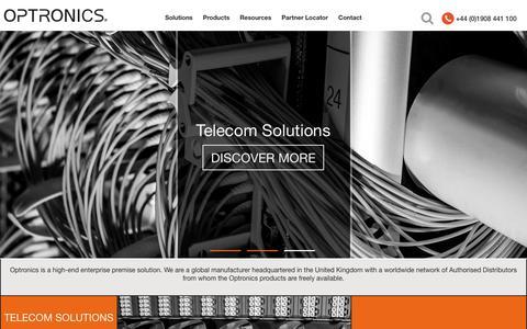 Screenshot of Home Page optronicsnet.com - Home -  Optronics - captured Oct. 18, 2018