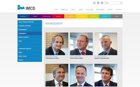 Screenshot of Team Page imcdgroup.com - Management   IMCD - captured Jan. 17, 2016