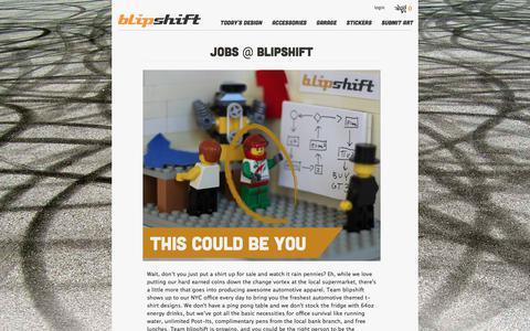 Screenshot of Jobs Page blipshift.com - Jobs & Positions at Blipshift   blipshift - captured June 3, 2017