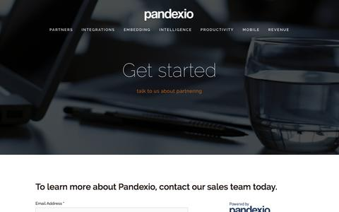 Screenshot of Contact Page pandexio.com - Get started — Pandexio - captured Sept. 29, 2014