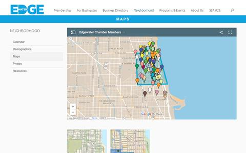 Screenshot of Maps & Directions Page edgewater.org - Maps | Edgewater Chamber of Commerce - captured Oct. 26, 2016