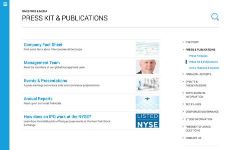 Intercontinental Exchange � Press Kit & Publications