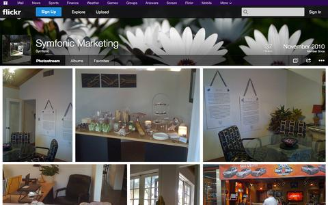Screenshot of Flickr Page flickr.com - Flickr: Symfonic's Photostream - captured Oct. 26, 2014
