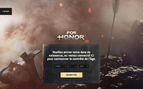 Screenshot of Press Page ubisoft.com - Bandes-annonces, gameplay, vidéos et illustrations de For Honor | Ubisoft (CA) - captured Nov. 8, 2019