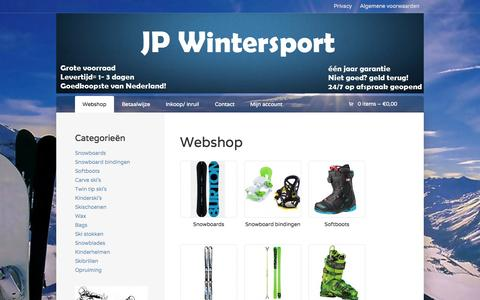Screenshot of Home Page jpwintersport.nl - Producten | JP Wintersport | - captured Sept. 30, 2014