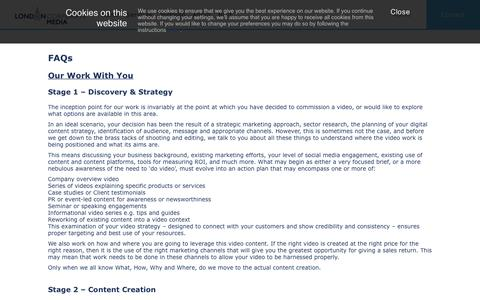 Screenshot of FAQ Page londoncorporatemedia.co.uk - Company video production FAQ from London Corporate Media - captured May 22, 2017