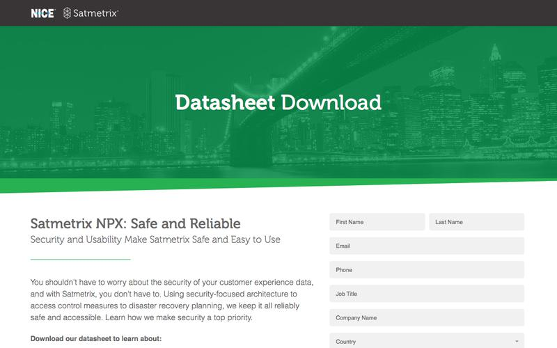 Satmetrix Security Datasheet