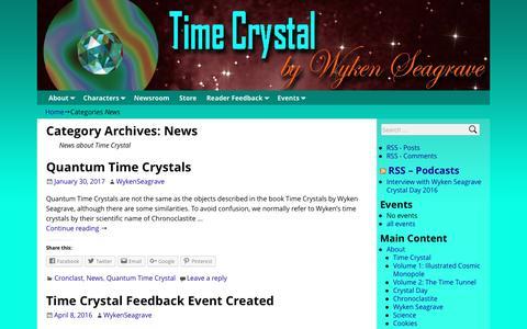 Screenshot of Press Page timecrystal.co.uk - News – Time Crystal - captured Jan. 30, 2017
