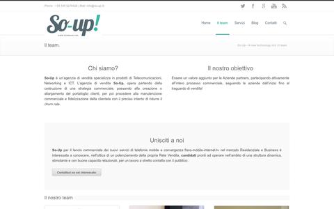 Screenshot of Team Page so-up.it - Il team   So-Up - A new technology mix - captured Sept. 30, 2014