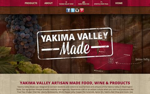 Screenshot of Home Page yakimavalleymade.com - Yakima Valley Made - captured Sept. 16, 2015