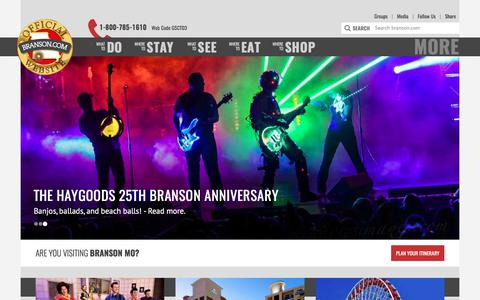 Screenshot of Home Page branson.com - Branson.com : The Official Branson Website - captured July 2, 2017