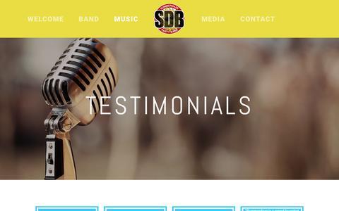 Screenshot of Testimonials Page summerdazeband.com - Testimonials — Summerdaze Party Band - captured July 2, 2018
