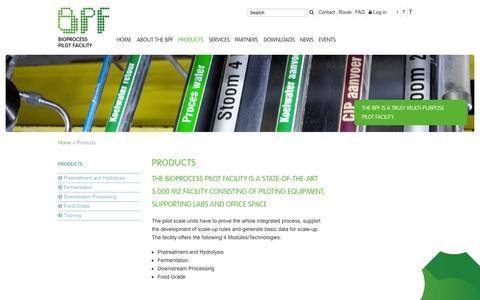 Screenshot of Products Page bpf.eu - Products :: BPF - captured Oct. 5, 2014