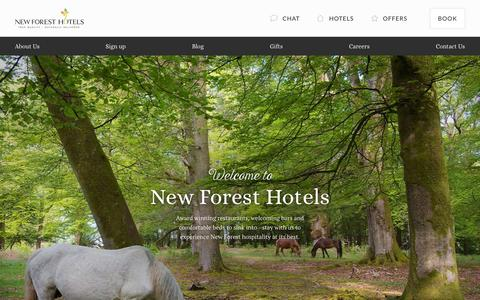 Screenshot of Home Page newforesthotels.co.uk - New Forest Hotels - True Quality, Naturally Delivered - captured Jan. 10, 2016