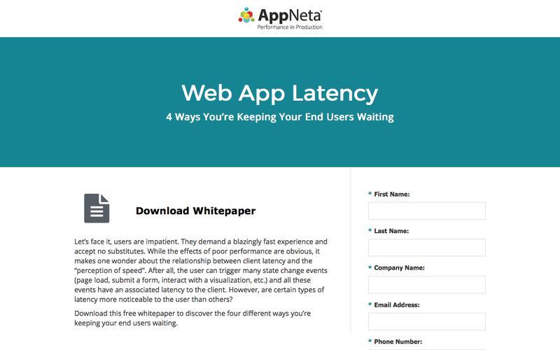 Web App Latency | AppNeta