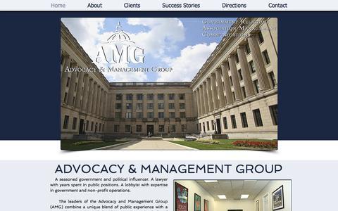 Screenshot of Home Page amg101.com - Advocacy & Management Group - captured Oct. 7, 2017