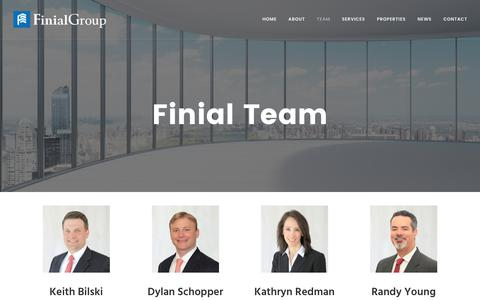 Screenshot of Team Page finialgroup.com - Leadership | Finial Group - captured June 6, 2017