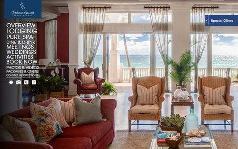 Screenshot of Home Page pelicanbeach.com - Pelican Grand | Fort Lauderdale Beach Resort and Hotel - captured Jan. 18, 2016