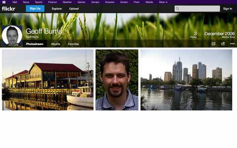 Screenshot of Flickr Page flickr.com - Flickr: Geoff Burns' Photostream - captured Oct. 26, 2014