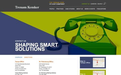 Screenshot of Contact Page trenam.com - Contact Us | Trenam Kemker - captured Oct. 7, 2014