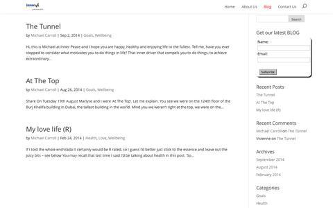 Screenshot of Blog innerpeace.com.au - Blog | Inner Peace - captured Oct. 6, 2014