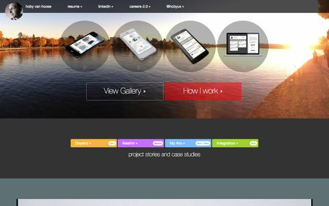 Screenshot of Home Page swiftmouse.com - Hoby Van Hoose - Experience Design - captured Sept. 30, 2014