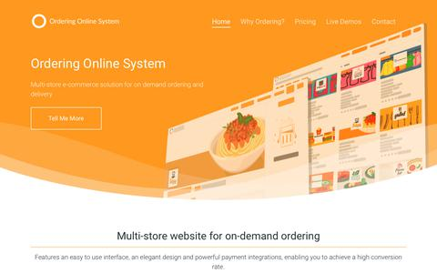 Screenshot of Home Page orderingonlinesystem.com - Online Ordering System - E-commerce solution for on-demand ordering - captured June 23, 2018