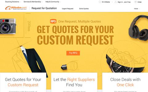 Screenshot of alibaba.com - Request for Quotation - Alibaba.com - captured Jan. 10, 2018