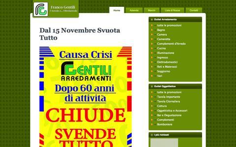 Screenshot of Home Page arredamentigentili.com - Franco Gentili | l'Arredo e ... Oltrelarredo - captured Oct. 6, 2014