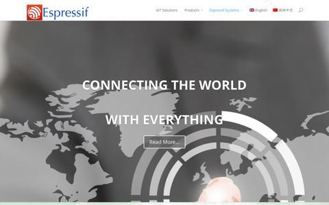 Screenshot of Home Page espressif.com - Espressif Systems - captured Oct. 2, 2014