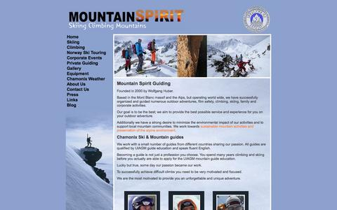 Screenshot of About Page mountain-spirit-guides.com - About Mountain Spirit and our Mountain Guides - captured Sept. 30, 2014