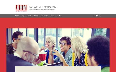 Screenshot of Home Page ashleyhartmarketing.com - Digital Marketing Consultant | B2B | NYC | Ashley Hart Marketing - captured May 30, 2017