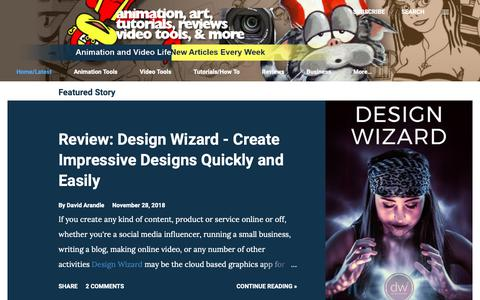 Screenshot of Home Page animationandvideo.com - Animation and Video Life - captured Nov. 28, 2018