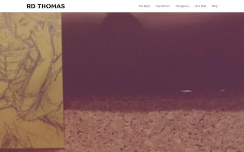 Screenshot of Home Page rdtadv.com - RD Thomas Advertising - captured Jan. 22, 2016