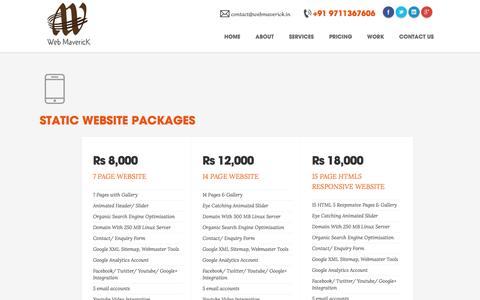 Screenshot of Pricing Page webmaverick.in - Best Website Development in Lucknow-WebMaverick | Customized Bespoke Website Development Company Lucknow | Mobile Application Development Lucknow | ERP Software Development Company Lucknow | CRM Software Development Company Lucknow | Inventory Softwa - captured Nov. 5, 2014
