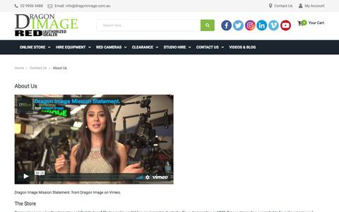 Screenshot of About Page dragonimage.com.au - About Us - Contact Us - captured Sept. 23, 2018