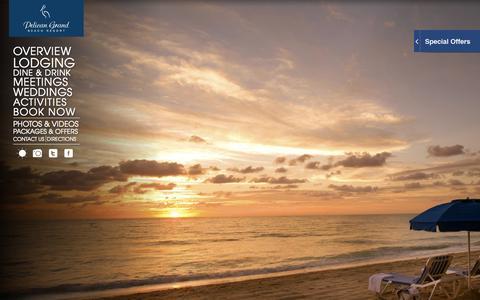 Screenshot of Home Page pelicanbeach.com - Fort Lauderdale Beach Resort | Fort Lauderdale Hotels | Pelican Grand - captured Sept. 19, 2014