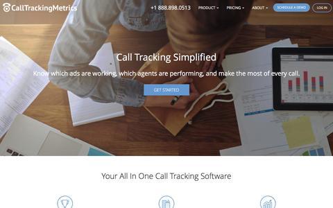 Screenshot of Home Page calltrackingmetrics.com - Advertising Call Tracking Service For Businesses and Agencies - captured Feb. 2, 2016
