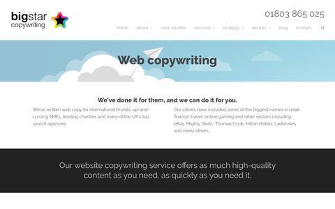 Web copywriting - Big Star Copywriting