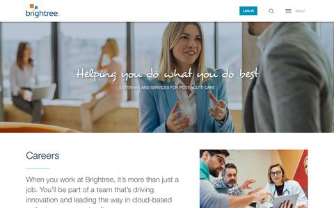 Screenshot of Jobs Page brightree.com - Find a Medical Software Job | Brightree - captured March 13, 2019