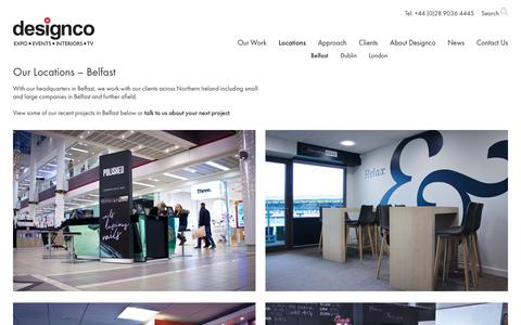 Screenshot of Locations Page rmcdesignco.com - Our Locations - Belfast | RMC Designco - captured Oct. 12, 2017