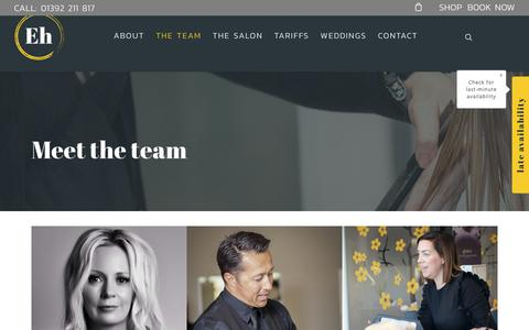 Screenshot of Team Page energyhair.com - Meet The Award winning Energy Hair team | Hair Salon | Exeter - captured Nov. 10, 2018