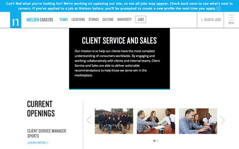Client Service and Sales | Nielsen Careers