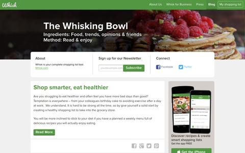 Screenshot of Blog whisk.com - The Whisking Bowl - Whisk Blog - captured Jan. 14, 2016