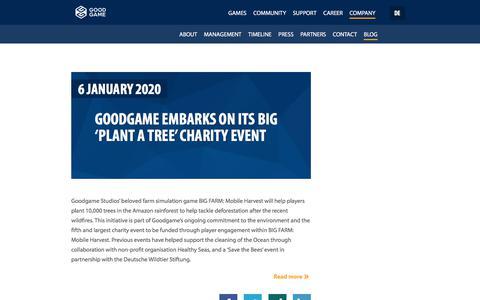 Screenshot of Blog goodgamestudios.com - Goodgame Blog - captured Jan. 14, 2020