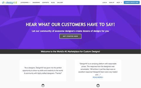 Screenshot of Testimonials Page designhill.com - Professional Designers Designhill - captured Oct. 29, 2014