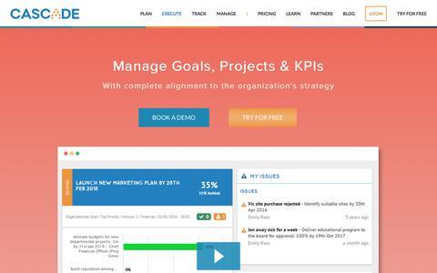 Screenshot of executestrategy.net - Goal Management Software | Cascade Strategy - captured Dec. 7, 2017