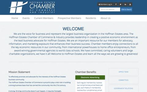 Screenshot of About Page hechamber.com - About Us | Hoffman Estates Chamber of Commerce - captured Jan. 30, 2016