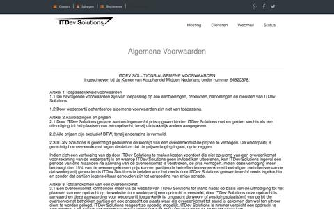 Screenshot of Privacy Page itdev.nl - ITDev Solutions - Algemene-voorwaarden - Enterprise Hosting - captured Oct. 6, 2017